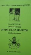 Divini illius magistri - Tema Pühadus Paavst Pius XI ringkiri kristlikust kasvatusest 31. 12.1929
